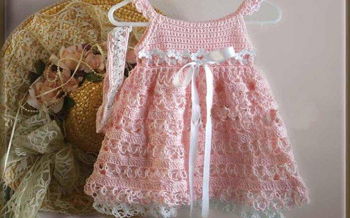 Как связать крючком красивое платье и бандану для девочки до года