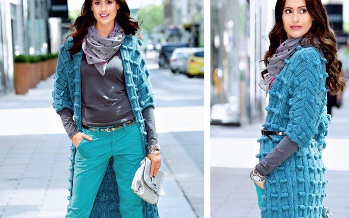 Пальто с рукавом 3/4 - схема вязания спицами. Вяжем Пальто на