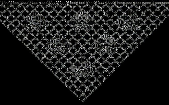 Petelkindom.Простые узоры вязания крючком.Схема шали 6