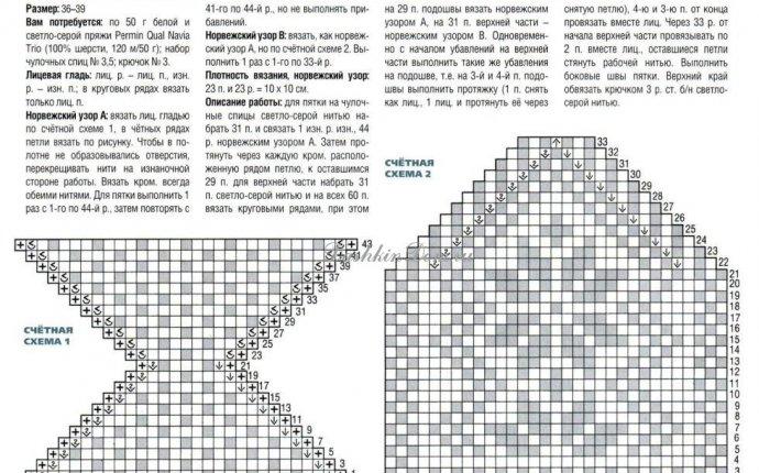 Тапочки (следки) спицами 15 моделей с описанием | Дашкин Дом