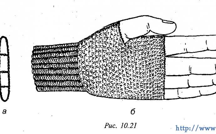 Вязание крючком перчатки без пальцев схемы