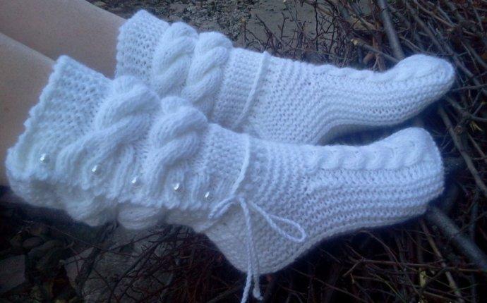 Вязаные сапожки | Вязание спицами, крючком, уроки вязания