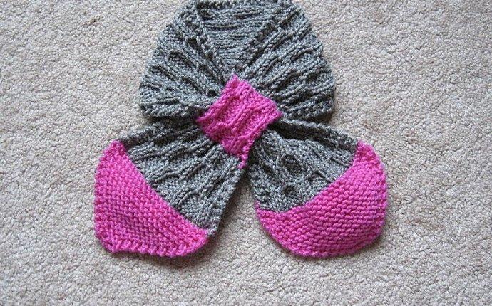 Вяжем детский шарфик без узла спицами по схеме. Подробное описание